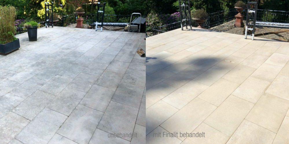 Sandstein Terrasse Reinigen Finalit Stonecare